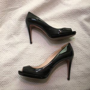 Prada Black Patent Leather Pump 39 Shoes